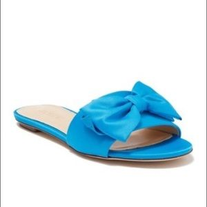 J. Crew Knotted Satin Bow Slides